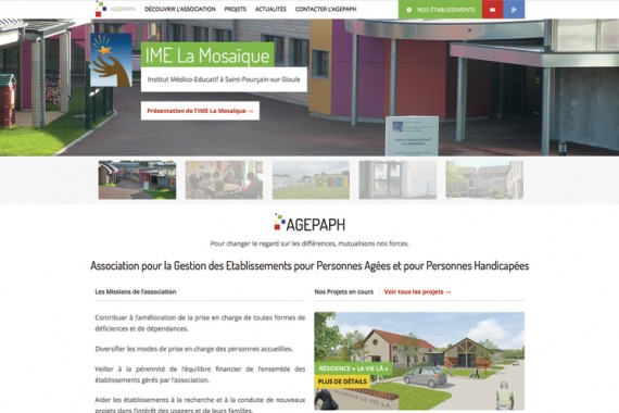 Site de l'association AGEPAPH